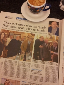Silvio at a recent 95th birthday. La Nazione