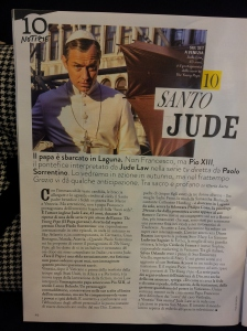 Saint Jude! A new TV series starting in the Autumn! Glossy magazine at my hairdressers.