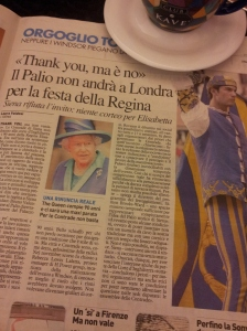 Siena's Il Palio says no to invite from the Queen! La Nazione