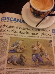 Calcio Storica. Very rough, half naked rugby/football in Florence! La Nazione