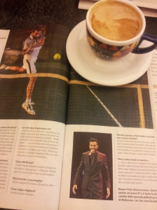 Marco Mangoni - Rock Star and Tennis Player. La nazione sports magazine.