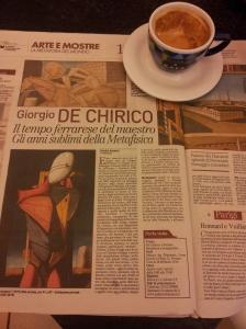 Giorgio De Chirico exhibition in Ferrara. Il Nazione.