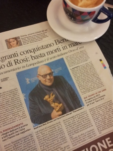 Gianfranco Rosi wins the Documentary Golden Bear award in Berlin. Il Nazione