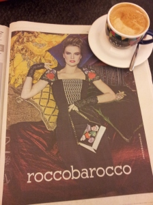 Roccobarocco Dress and matching handbage to die for. La Nazione.