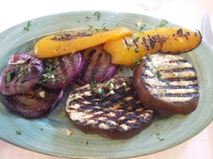 Wood fire grilled vegetables. Foto J Finnigan