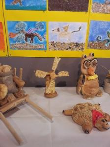 More bread creations and artwork. Foto J Finnigan