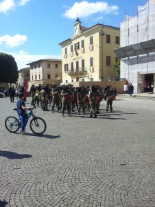 Il Bursagliere arrive in Certaldo. Photo J Finnigan