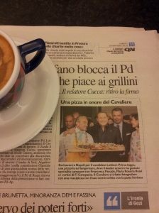 Silvio is honoured with a special Pizza in Napoli. La Nazione