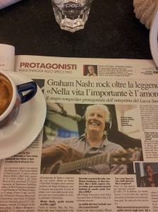 Graham Nash in Lucca, great singer and songwriter. La Nazione