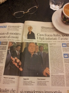 Silvio goes into hospital. La Nazione