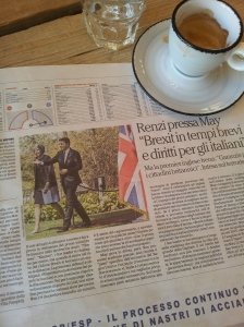 May and Renzi. La Republica.