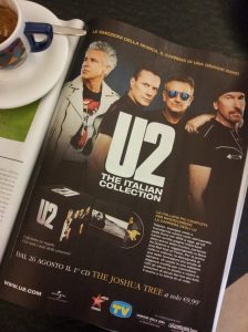 The new U2 box set in Italian. Mag ad.