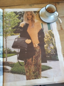 Autumn fashions from Simona Barbieri. La Republica.