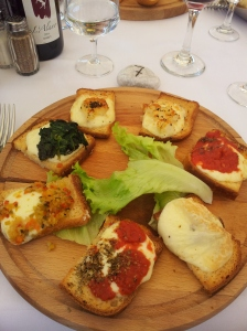 Vegetarian Crostini, my gluten free version! Foto J Finnigan