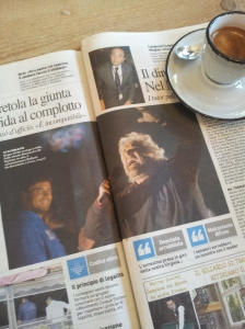 Beppe Grillo and Alessandro di Battista. La Republica