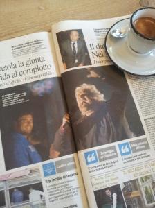 Beppe Grillo and Alessandro di Battista. La Republica