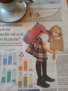 A school bag loaded with back problems. La Republica