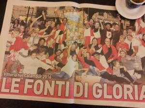 'Il Fonti' the winning team. La Nazione