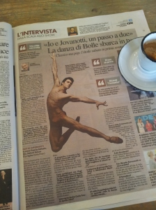 The gorgeous body of Roberto Bolle, La Mia Danza Libera. La Repubblica