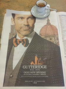 Gutteridge, the beautiful new men's shop in Florence. La Repubblica