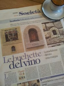Little Wine Windows in Florence. La Repubblica
