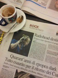 Radiohead rocks in Tuscany. La Reppublica