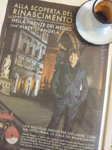 The hunky Alberto Angela and his latest DVD collection. La Repubblica