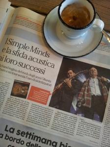 Simple Minds in Tuscany. La Repubblica.