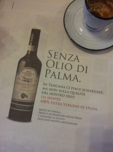 Extra Virgin Olive Oil senza (without) palm oil. La Reppublica