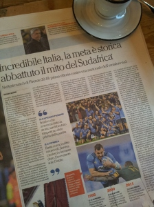 Rugby victory for Italy! La Nazione