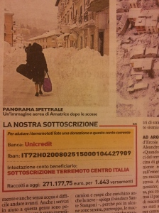 The appeal bank details. La Repubblica