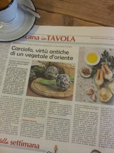 The very versatile vegetable Carciofo. Foto La Repubblica