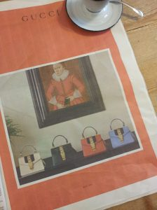 Mmmm, lovely Gucci handbags to drool over. Foto La Repubblica