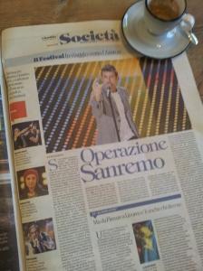 The forthcoming San Remo Music Festival. Foto La Repubblica