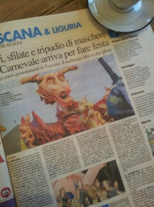 The traditional Carnevale in Tuscany. Foto La Republicca