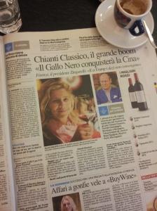 Fantastic success worldwide for Chianti Classico Wine. La Repubblica.