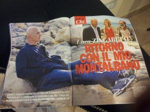 The return of Montalbano! Glossy mag at Sandra's hairdressers.