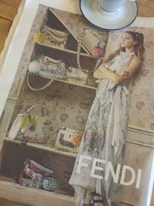 Gorgious Fendi bags and frock. La Repubblica