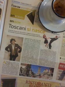Toscani si Nasce Grande Show, 4th March. La Nazione.