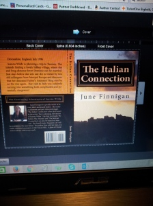 New book cover proof for The Italian Connection. Foto J Finnigan