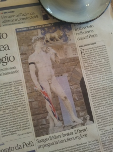 The Statue of David in Florence.  La Reppubblica