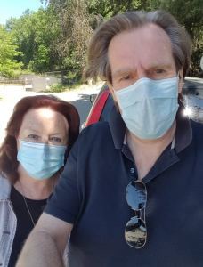 paul and june in facemasks 27.05.20