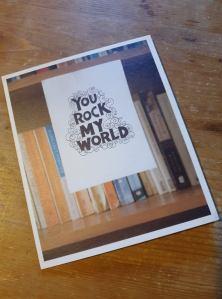 Rock My world card